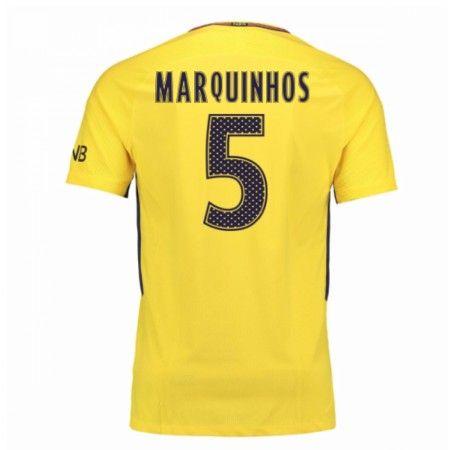 PSG Marquinhos 5 Udebanetrøje 17-18 Kort ærmer #Billige #Fodboldtrøjer