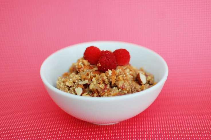 Raspberry Almond Coconut Breakfast Quinoa | Beantown Baker ...