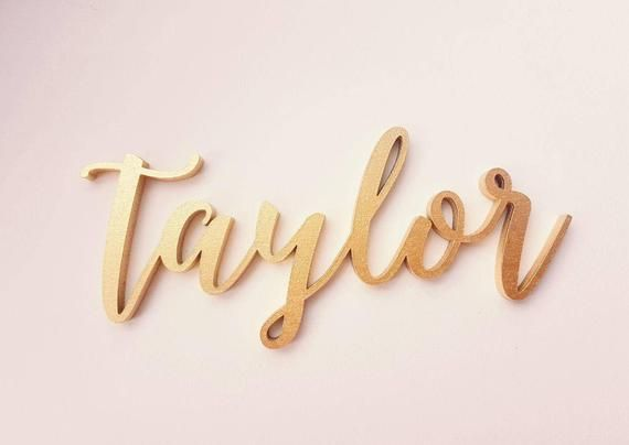 Gold Custom Name Sign Personalized Baby Name Baby Wall Etsy Baby Wall Decor Name Signs Personalized Baby
