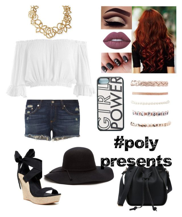 """#PolyPresents: Girl Power"" by darkangel707 on Polyvore featuring Oscar de la Renta, Sans Souci, Lime Crime, Wood'd, Charlotte Russe, rag & bone, UGG Australia, contestentry and polyPresents"