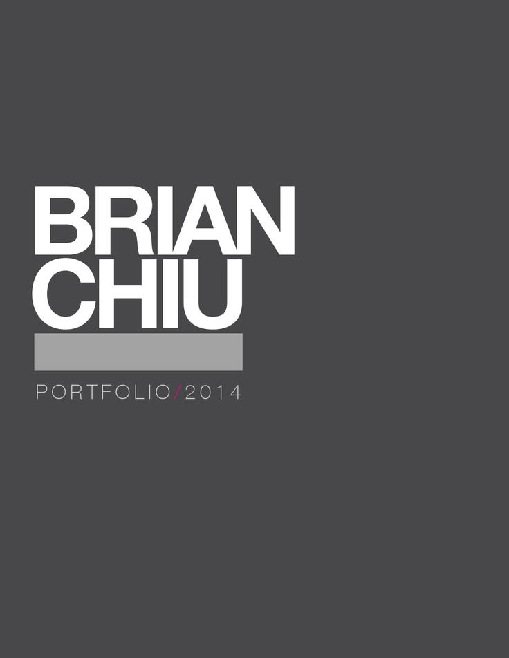 Brian Chiu's Industrial Design Portfolio 2014  My current portfolio as a third-year industrial design student at the University of Houston.