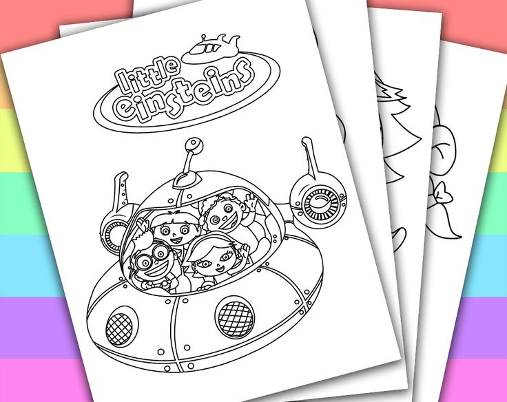 DIGITAL - INSTANT DOWNLOAD PRINTABLE COLORING PAGE  This listing give you a series of 4 printable coloring pages of LITTLE EINSTEINS. You can use these coloring pages for your children's birthday party, or a small party in the classroom if you ...