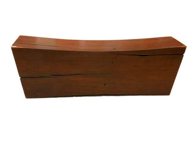 Rustikale Gartenbank Zeitgenössisches Design Massivholz
