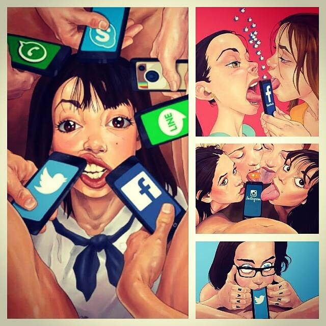Our society today (artist: Luis Quiles) - 9GAG