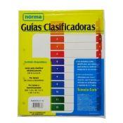 Guía Clasificadoras Blanca 1-12 Carta x20 Norma