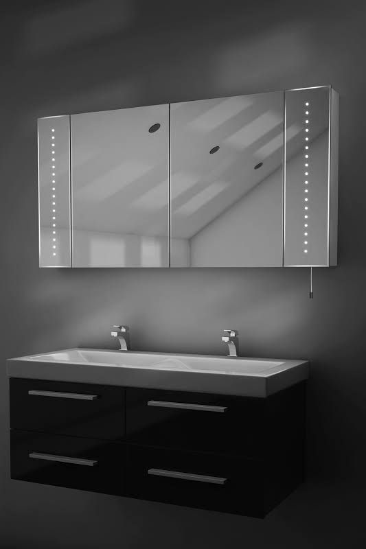 Photo Image  bathroom mirror cabinet with lights