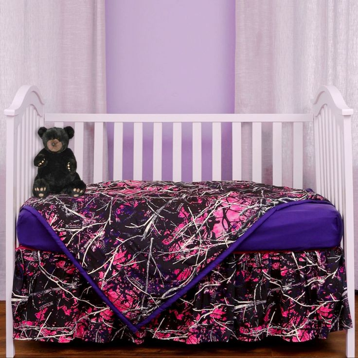 Camo Celebrations  - Muddy Girl Camo Crib Set, $55.00 (http://www.camocelebrations.com/muddy-girl-camo-crib-set/)