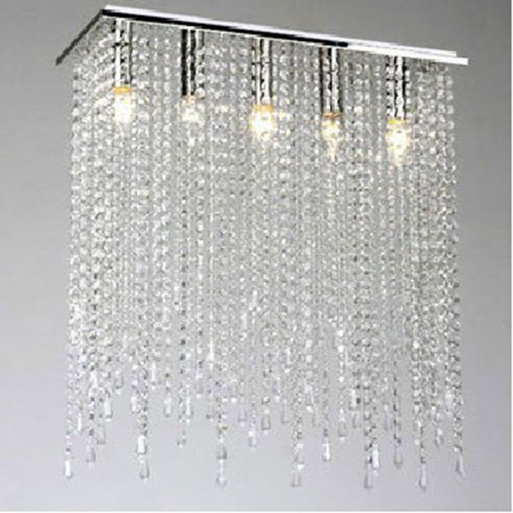 Modern Crystal Square Chandelier Light Lamp Lighting Fixtures with LED Bulbs L520 * W190 * H590mm modern crystal chandeliers
