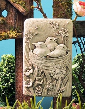 1279 Cozy Nest - Design of the month for May #carruth #nest #birds #plaque #handmade #weatherproof #usa
