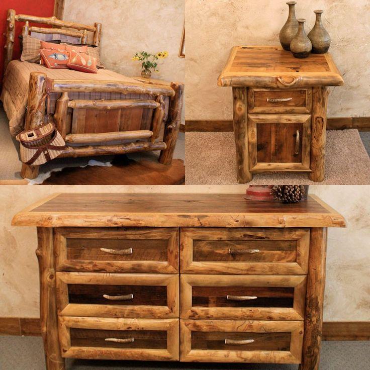 Log Bedroom Furniture  Coordinating Aspen Furniture Makes a Beautiful  Bedroom Set