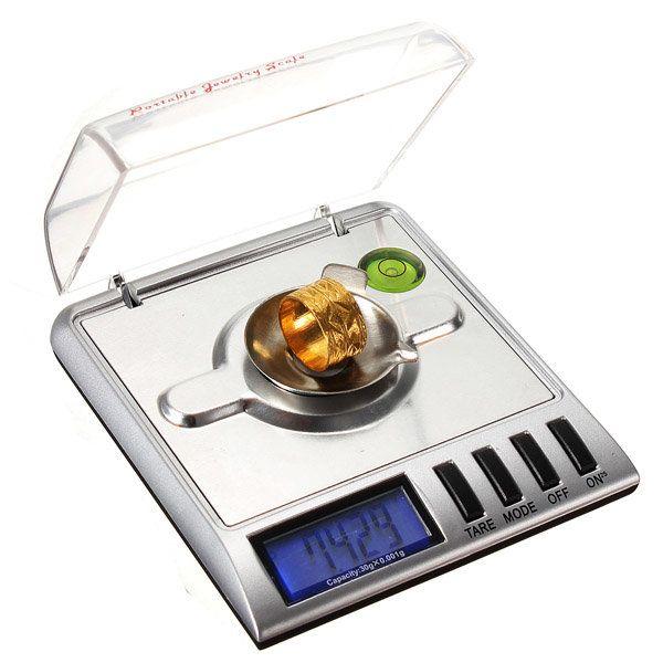0.001g x 30g Digital Jewelry Pocket Scale Gram Precise Weighing