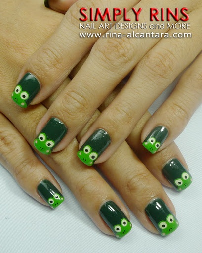 43 best frog nail art images on pinterest frogs nail art ideas frogsbut she has great nail art prinsesfo Images