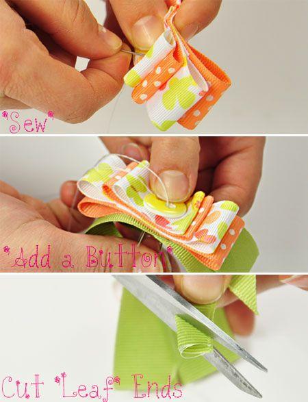 Printed Ribbon Hair Bow