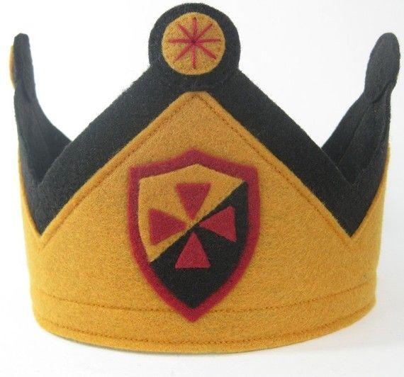 Noble Knight Felt Crown LAST ONE by TwoLittleBluebirds on Etsy