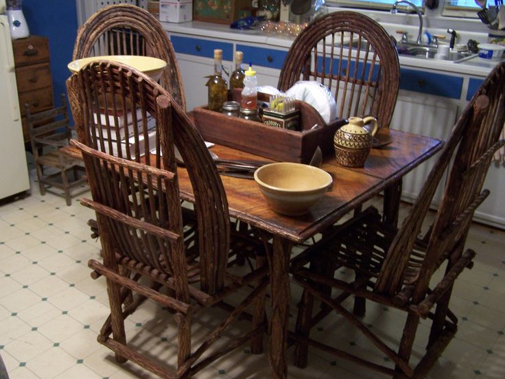Table U0026 Chairs Made By Famous Twig Furniture Maker In Boone N.C.