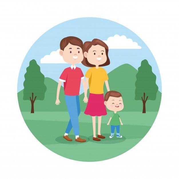 Familia Feliz De Dibujos Animados Con Su Premium Vector Freepik Vector Amor Familia Mujer Hombre Familia Feliz Dibujo Familia Feliz Dibujos Animados