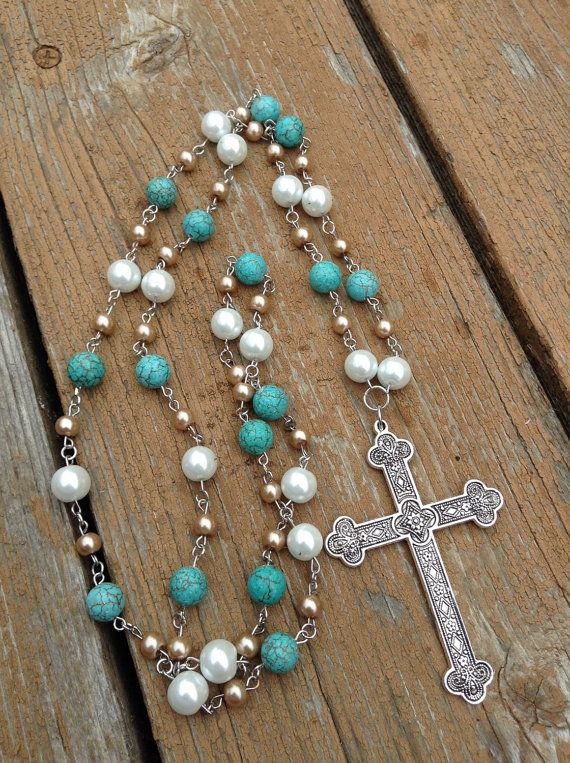 Hey, I found this really awesome Etsy listing at https://www.etsy.com/listing/226847154/extra-long-wester-pearl-and-turquoise