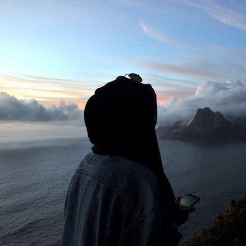 #night #girl #hijab #tesettür #beautiful #cloud #tumblr