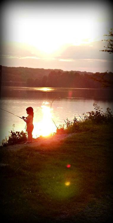 Little girl fishing #Fishing
