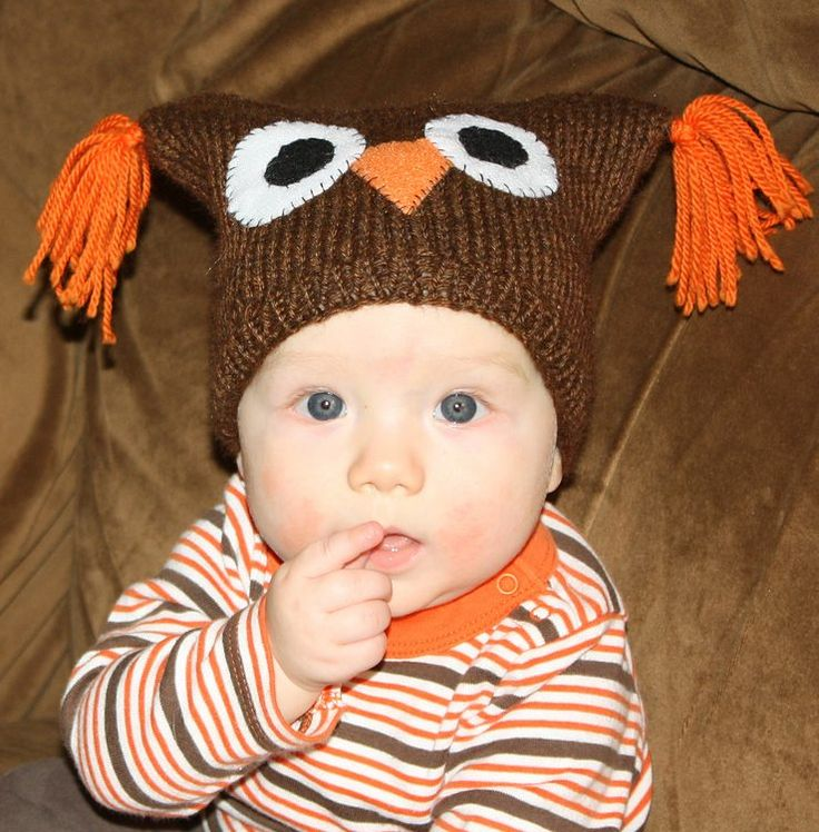 Free knitting pattern for Baby Owl hat