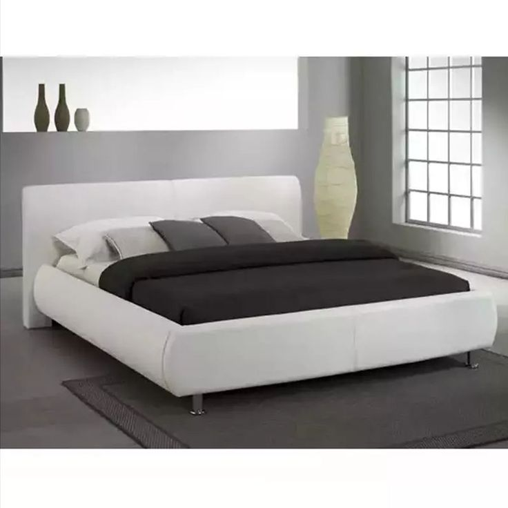 Orion White Faux Leather Bed Frame | Next Day - Select Day Delivery