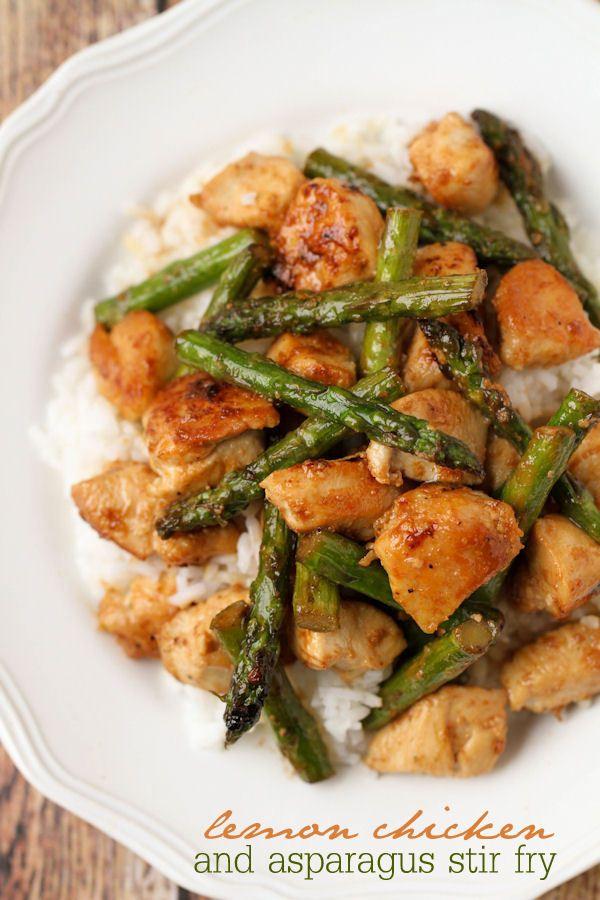 Lemon Chicken and Asparagus Stir Fry | Recipe | Chicken ...