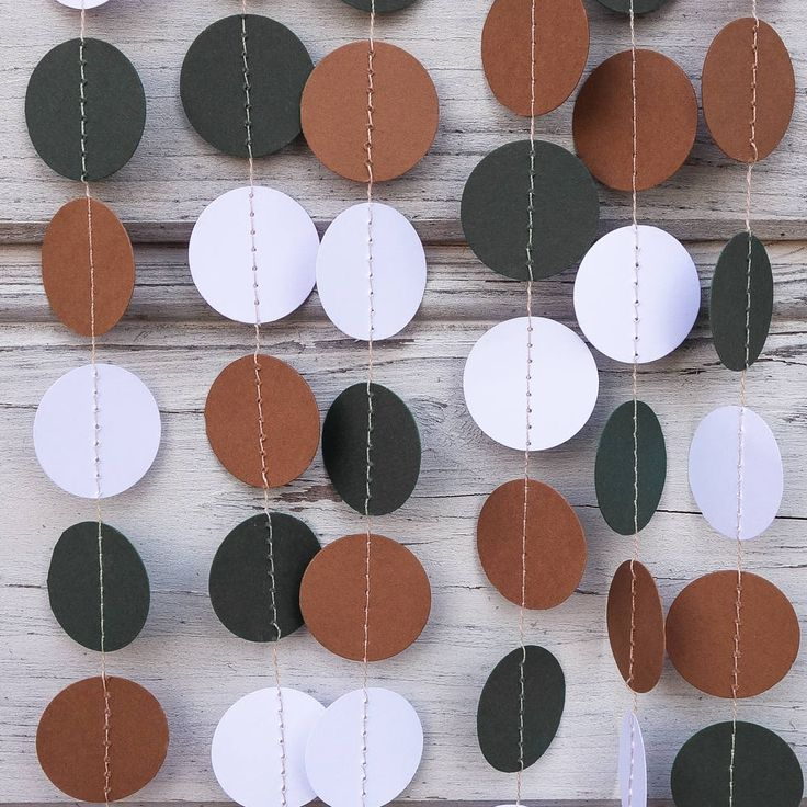 Brown and Green paper garland, Green shower, Militar garland, Army photo backdrop, Baby shower, Forest green guirlande, Wall decorations by folkchain on Etsy