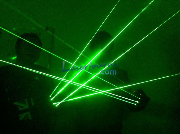 Gants lasers verts laser de scène de danse spectacle de lumière DJ CLUB