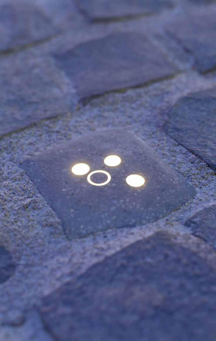 miniMUKI // the smallest family member made of concrete, it can be fitted into general small cobble stone systems // lighting pavement element by S'39 Hybrid Design Manufacture // 2014 Kazinczy Street project