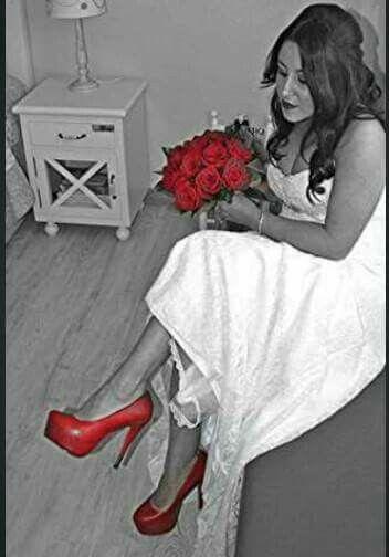 Zapatos rojos boda