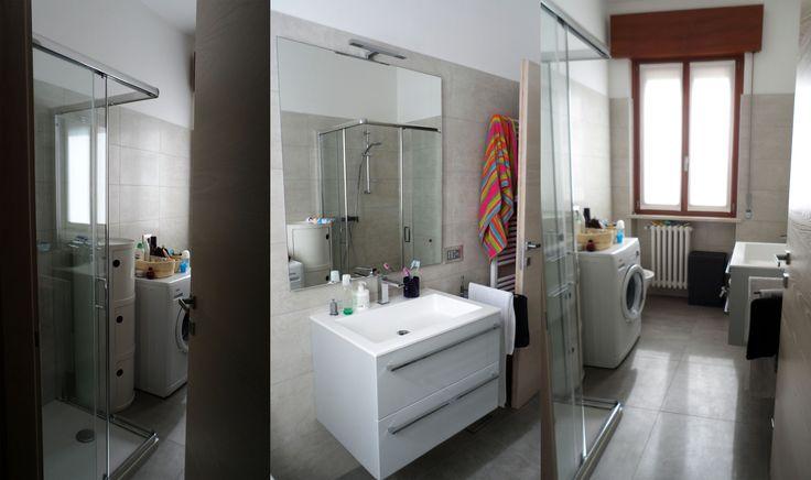 Less is more. Progetto personale, stanza da bagno.