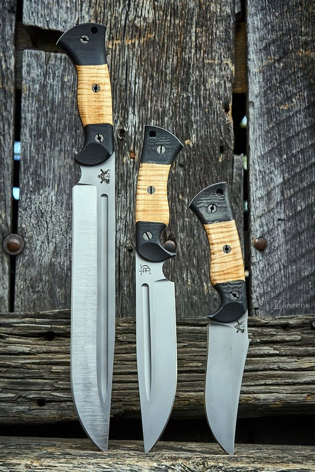 Dark Timber Custom Knives :|: Superb 3some