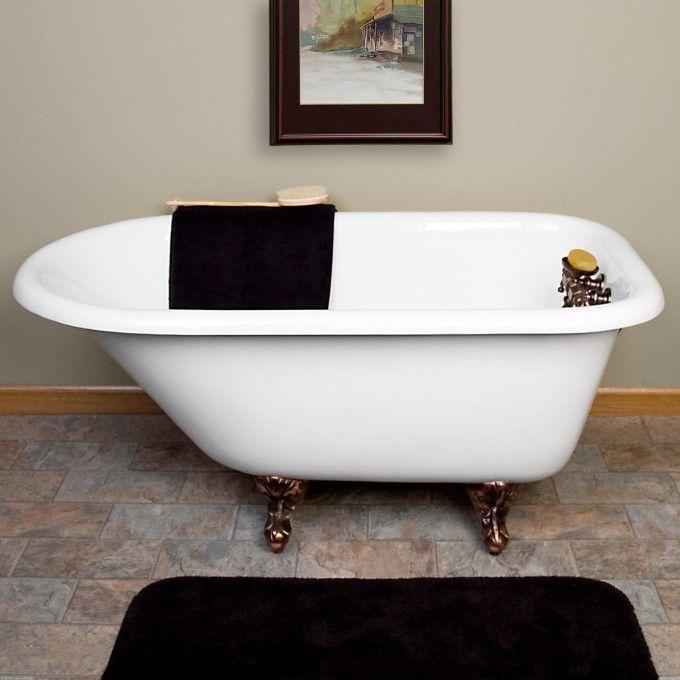 miya cast iron rolltop clawfoot tub