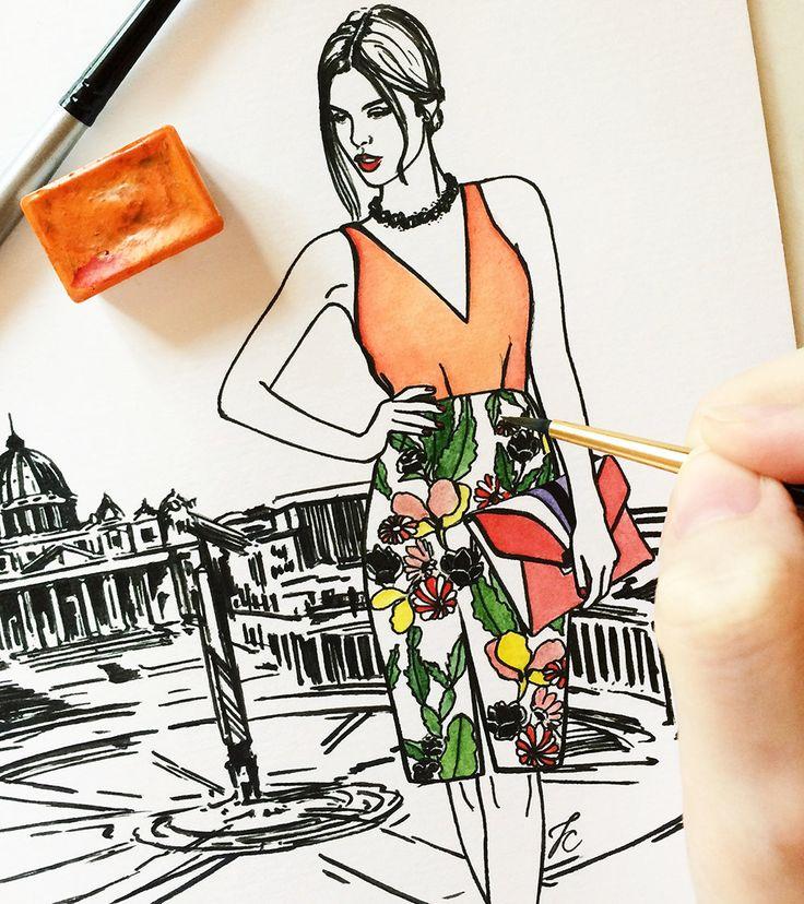 Italy art Italy illustration Italian girl Italy от DollMemoriesArt