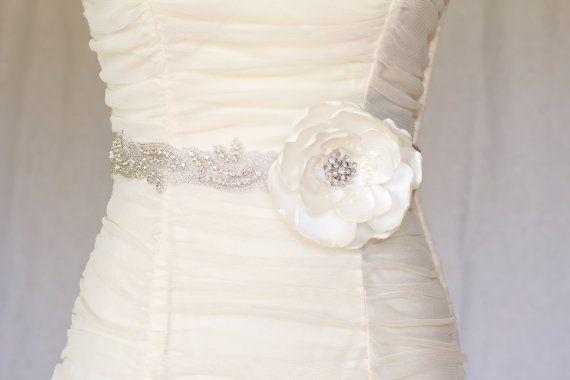 Ivory Wedding Bridal Sash  Wedding Belt with by LegendDesign, $99.00