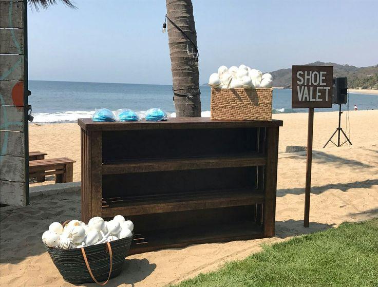 Shoe Valet For Your Beach Wedding At @frentealpunto In Sayulita Puerto  Vallarta