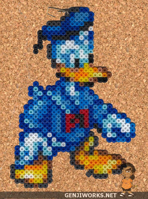 Donald Duck Perler beads by genjiworks on deviantart