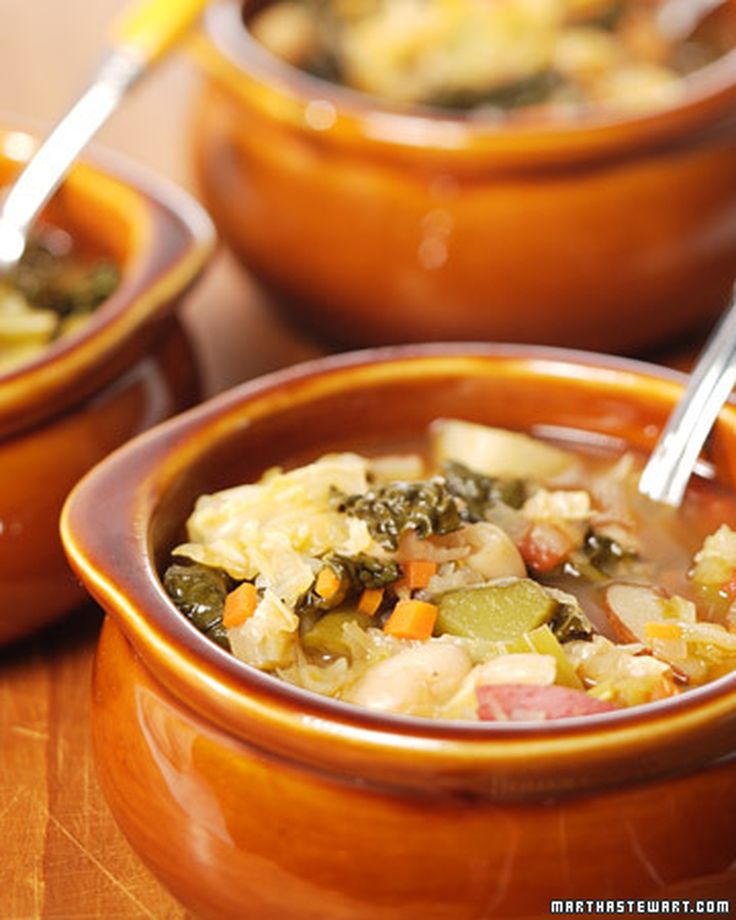 This simple recipe for delicious minestrone soup was adapted from the ...