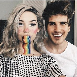 make-up makeupbymandy24 rainbow halloween makeup