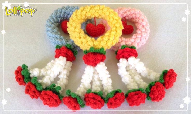 Crochet Hair Garland : Crochet Thai garland for Mothers day. Crochet edging & garlands ...