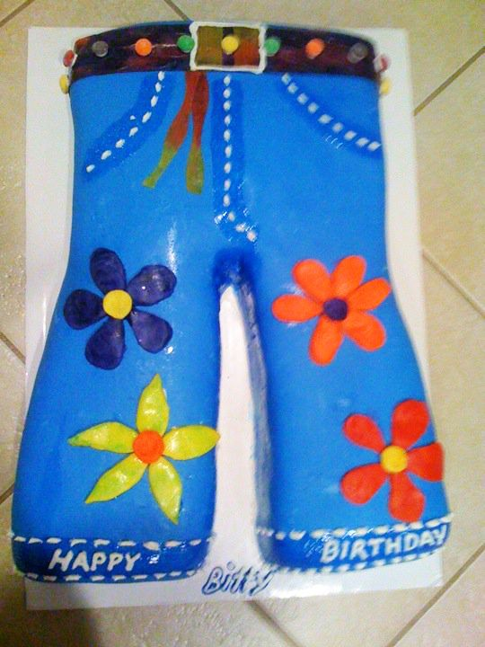 Hippie Flower Jeans Cake Made By Country Cowgirl S