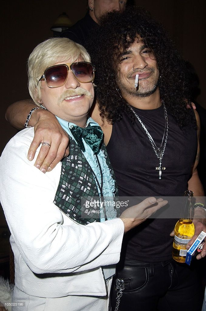 Johnny Fayva and Slash during Grand Opening of Sapphire, The Largest Gentlemen's Club in the World at Sapphire in Las Vegas, Nevada, United States.