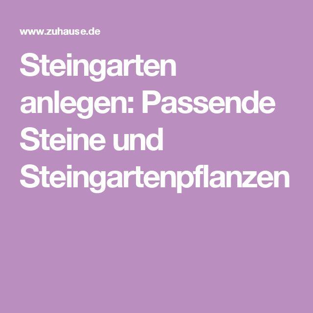 Steingarten Anlegen Und Bepflanzen : Steingarten Anlegen su Pinterest  Kiesgarten anlegen, Garten anlegen [R