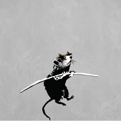 "Style and Apply Banksy Acrobat Rat with Shades Wall Decal Size: 14"" H x 16"" W"