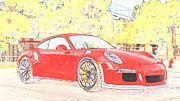 "New artwork for sale! - "" Porsche 911 Gt3 Rs Orange  by PixBreak Art "" - http://ift.tt/2m4vLaC"