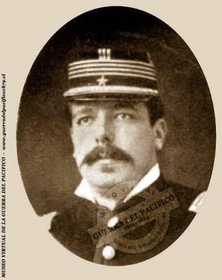 José Ramón Vidaurre del Río. A los 14 años ingresa a la Academia Militar, egresando como Alférez de Artillería en 1848. En 1867 fue nombrado Edecán del Presidente Errázuriz Zañartu. Ingresó al ejército en 1865, participó en la guerra contra España, en 1869 formó parte de la comisión que repatrió los restos de O'higgins. Participó en la guerra del pacífico como Capitán del regimiento artillería de marina