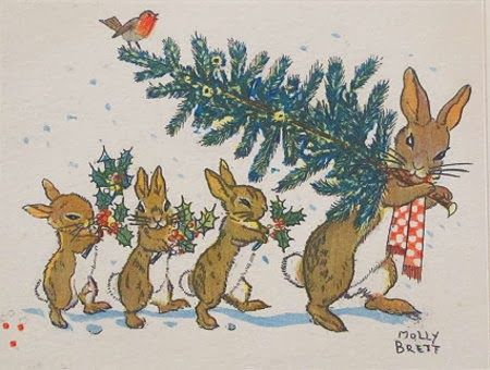 March House Books Blog: Vintage Christmas Greetings Sent With Love Molly Brett Christmas Card