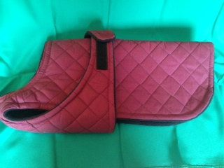 Medium Custom Winter Dog Coat 14 Inch Length Quilted by madebyde, $40.00 Things for my Frenchie...