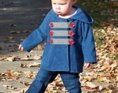 Unisex Jacket, Coat Sewing Pattern and Tutorial (sizes 3m, 6m, 12m, 18m, 2t, 3t) SIDEWALK JACKET