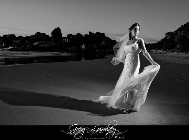 Bride twirling on a beach in Cape Town